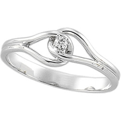 White Gold Promise Rings